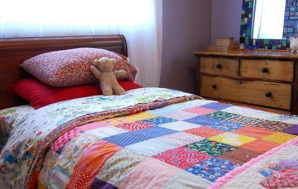 Patchwork can also be used to decorate a children