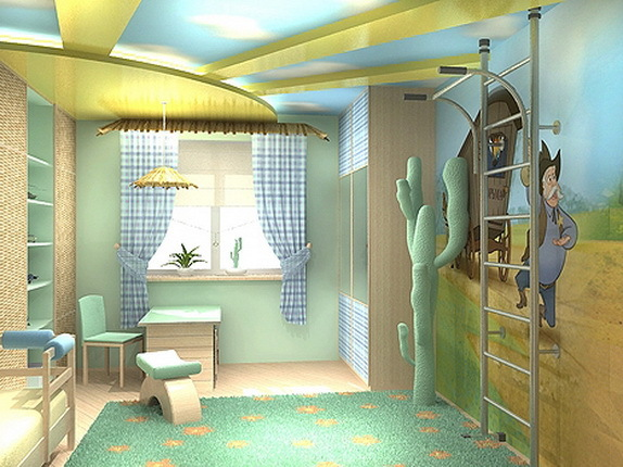 Design a child's room for a boy student