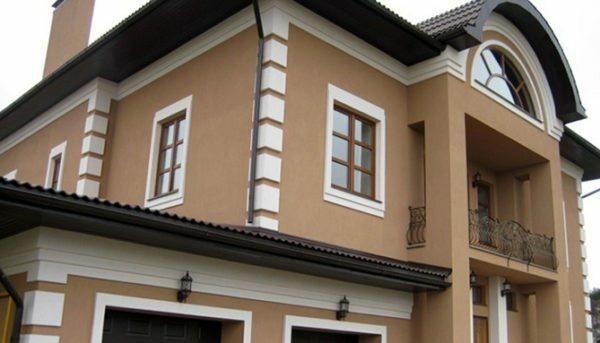 Acrylic paint can be used for painting facades