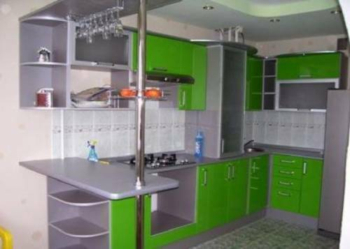 Kitchen design with ventilation ducts