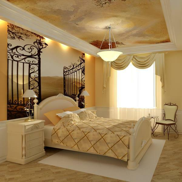Bedroom furniture in classic style photo: white suite, China-style closets, classic armchair and sofa, beds