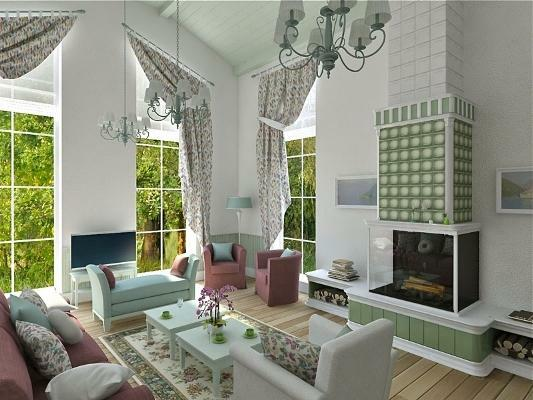 Decorating rooms in the style of Provence is a great way to make the living room unusual, cozy and beautiful