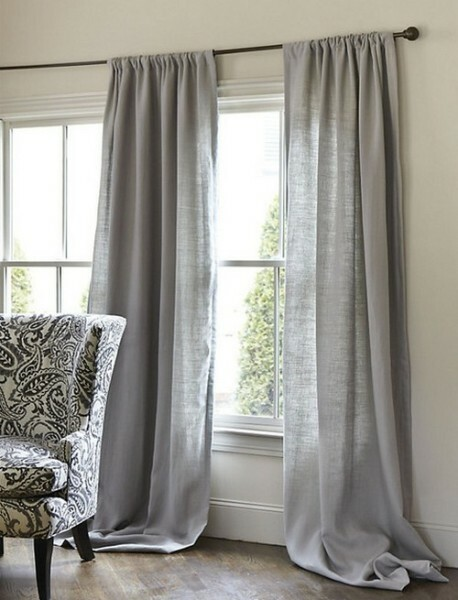 Curtains design for questioning involves the use of natural fabrics and linen will be quite appropriate