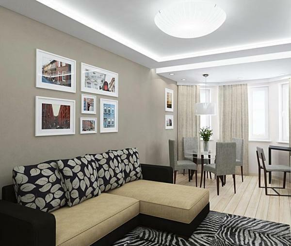 The combined bedroom and living room will help you make an original redevelopment in the apartment