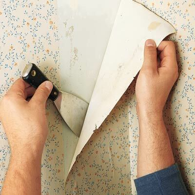 how to peel old wallpaper