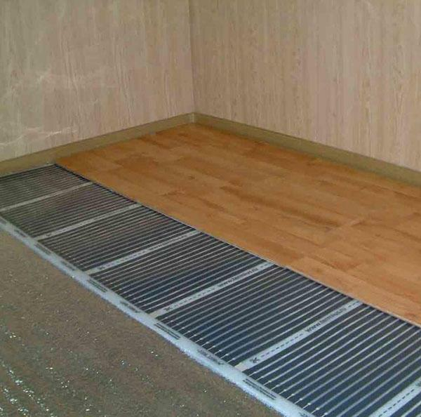 For the device of the floor is suitable for almost any flooring, including linoleum