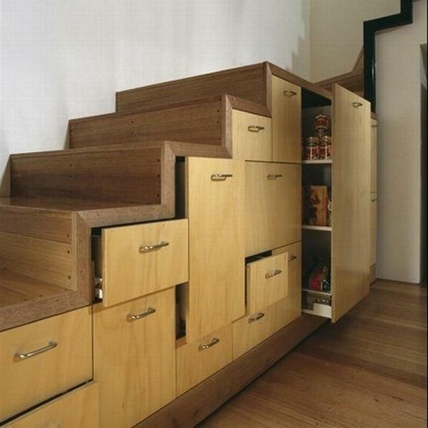 Comfortable staircase with drawers