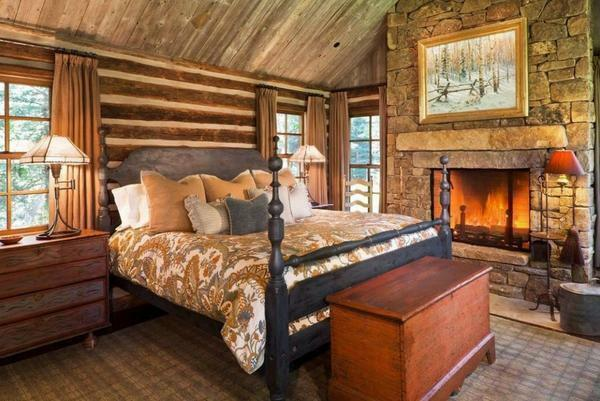 Additionally, you can decorate the bedroom with decorative finishes and a fireplace