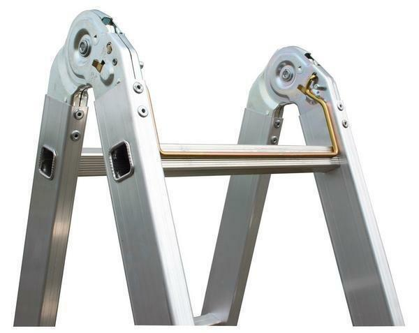 "When choosing a ladder ""Krause"" it is necessary to check the strength and mobility of the hinges"
