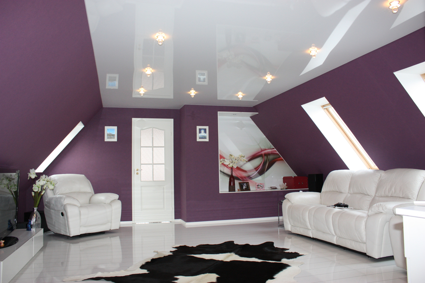 Suspended ceiling with lighting: the variety of designs