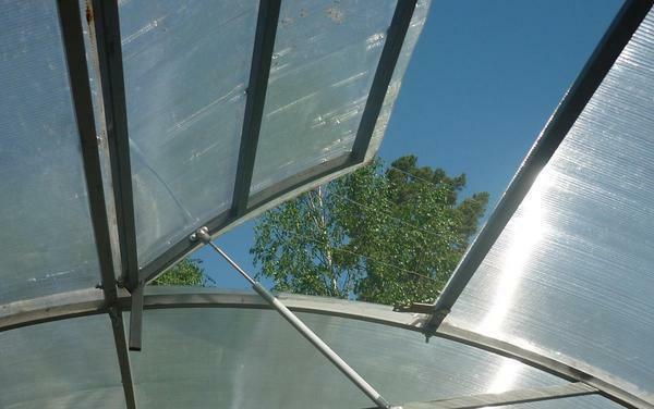To maintain optimum humidity, it is recommended to regularly ventilate the greenhouse