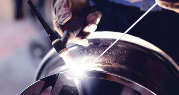 argon welding technology allows even repair alloy wheels
