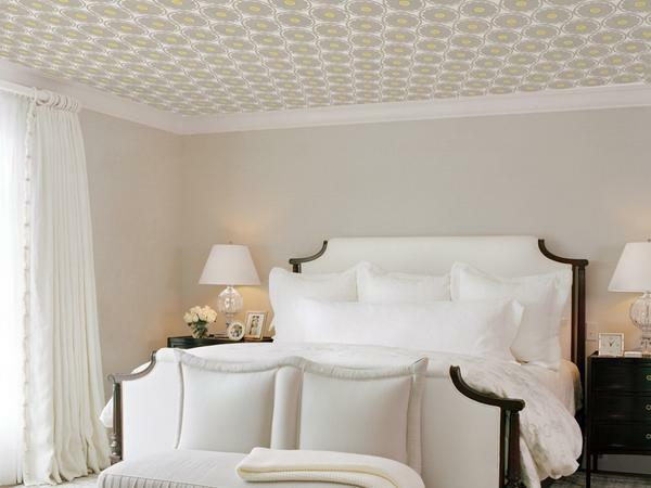 For a room with low ceilings, it is better to choose light wallpaper