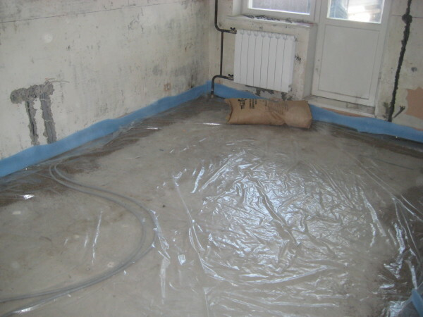 Concrete floor screed: thickness, how-to instructions and fill in your own hands, videos and photos
