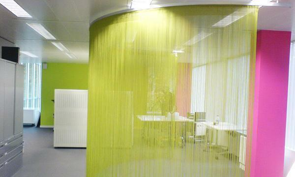 Excellent in almost any interior will look like threaded partitions in the room