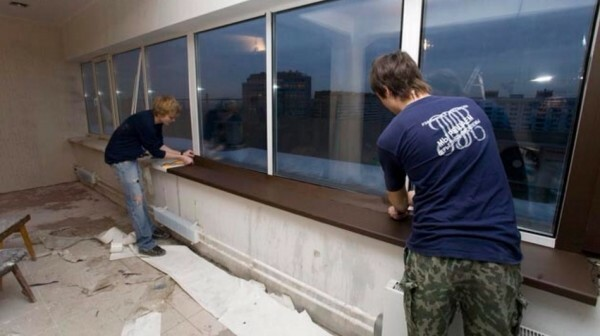 Paste over can not only frame but also the window sills, and other elements