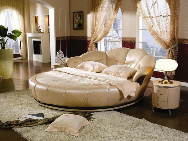 Bedroom bed interior: photo and soft design, stylish and original, sleeping with two