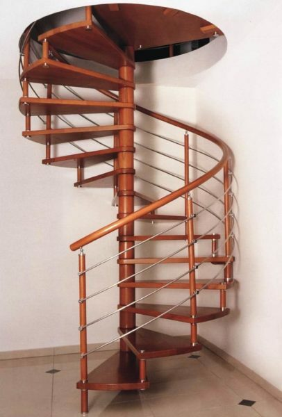 The spiral staircase is inconvenient to use and difficult to manufacture