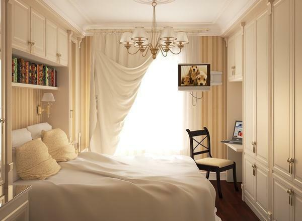 Bedroom interior 12 sq. M.M photo: in Khrushchev's room, repair how to equip, design and layout, how to decorate