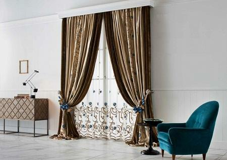 Italian curtains are distinguished by a wide variety and excellent aesthetic properties