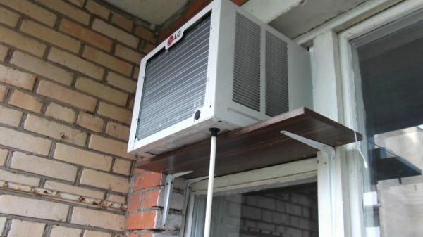 Easy completion and opening of the frame allowed to install window air conditioner in the window.