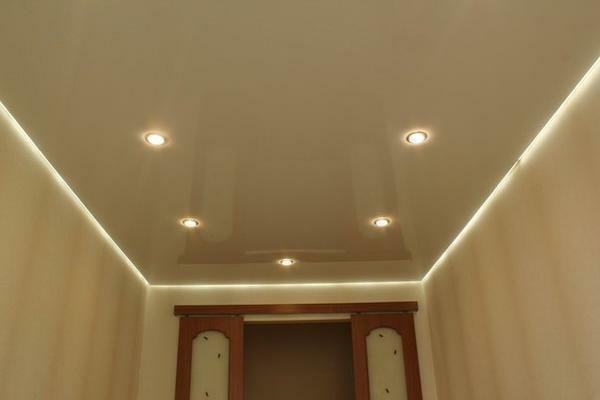 The floating stretch ceiling will be an excellent solution for those who want to bring original touches to the interior