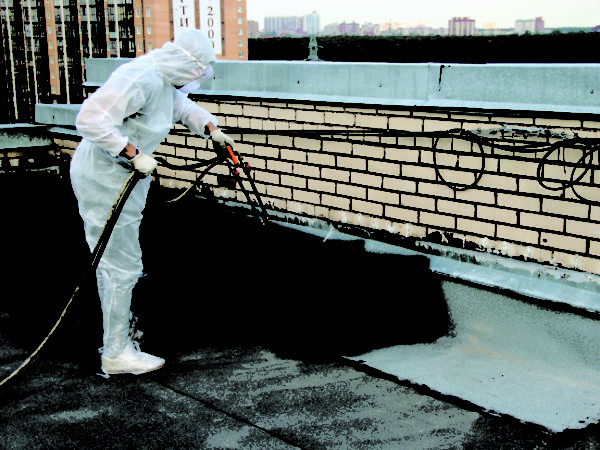 Spray - the surest way to the roof waterproofing liquid rubber