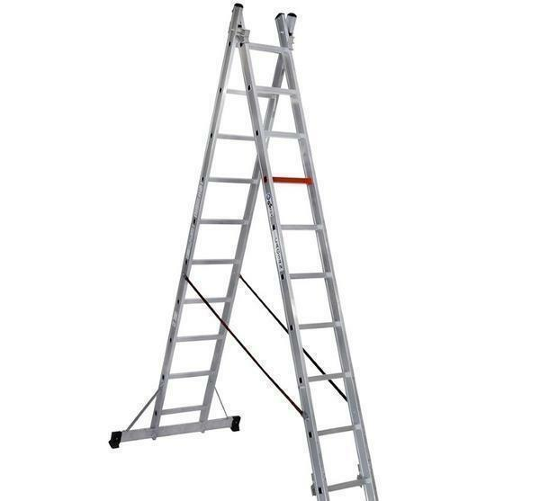 Most often a two-section ladder is used in repair and construction work