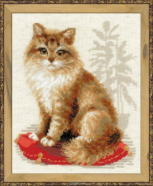 If you want to make a creative gift, then you can embroider beautiful cats yourself, which will surely please both adults and children