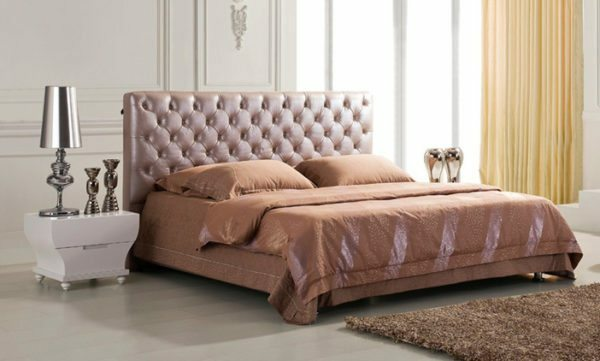 Headboard made of wood upholstered looks very stylish