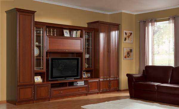The wall in the living room in the classical style: from the manufacturer of the classic, photo for the hall, angular Italian furniture