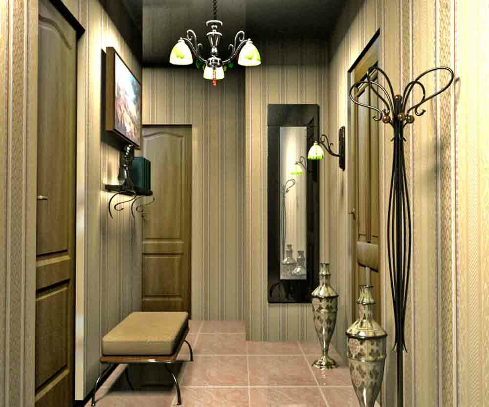 Corridor design in the apartment: a long and narrow