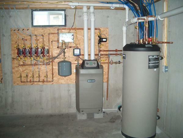 To install an indirect heating boiler, you can use several types of obvzyka