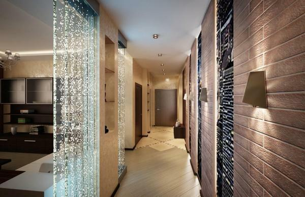 Corridor 5 sq. M.M: length 24 meters, design and photo, house 4x4, width 14 and 15, interior of the hallway 8 and 20 m, 11 rooms