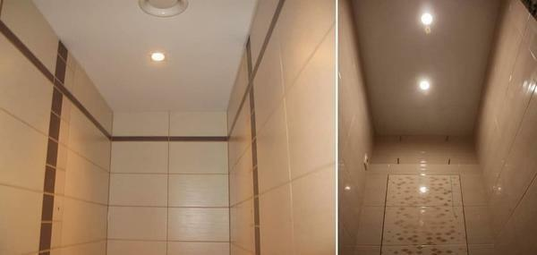 The second most popular place to install a stretch ceiling is the toilet