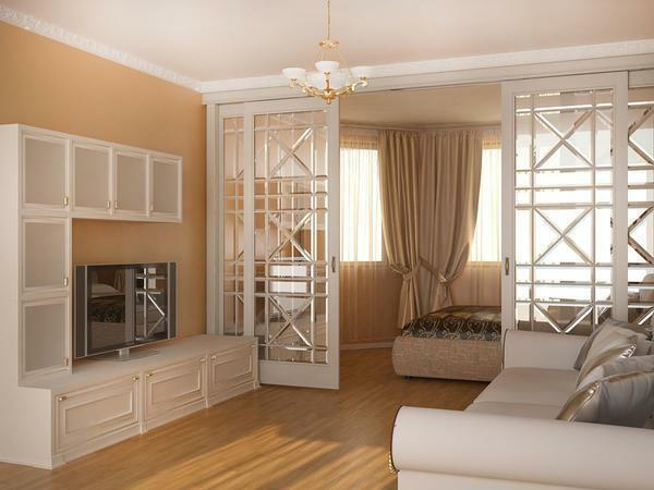 Design room two bedroom zones photo: zoning, how to fence a bed in a one-room apartment