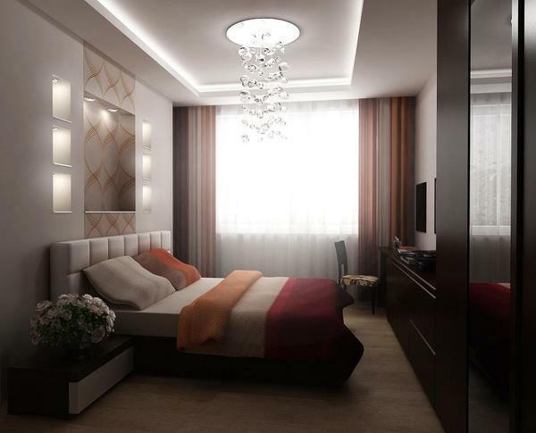 Design of a small bedroom 12 sq.m. M photo: real interior, ideas of meter rooms, a classic renovation project