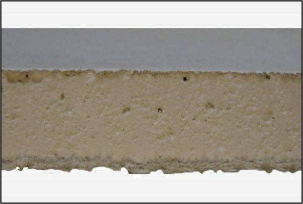 Drywall - a gypsum core and the shell of thick kraft paper. Both materials are of natural origin and contain no harmful substances.