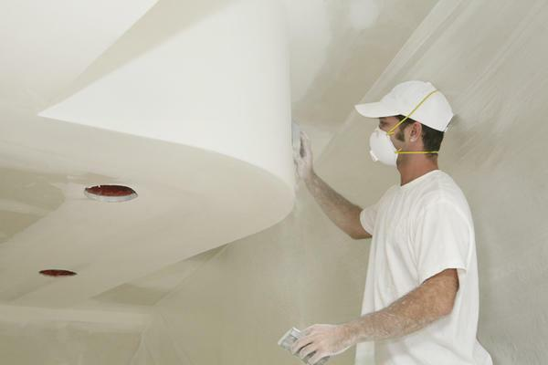 The ceiling of gypsum board needs additional processing with finishing materials