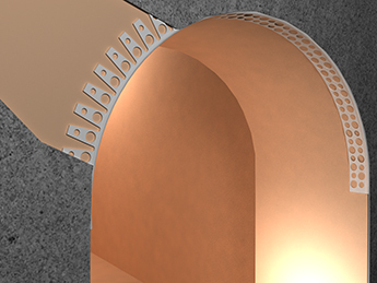 Plaster Corner is designed to align the curved corners