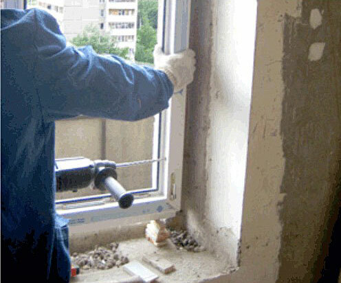 Repair bedroom Khrushchev: the installation of new window frames