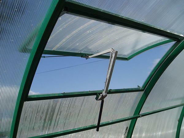 To plants in the greenhouse was comfortable, it is necessary to properly air it