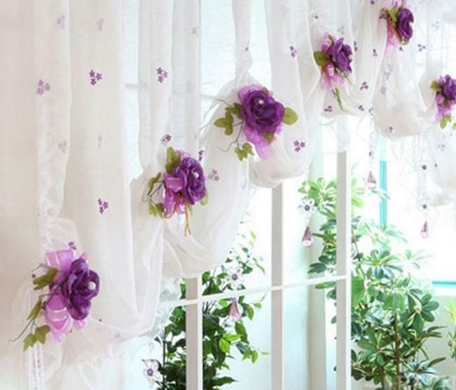 Decor curtains: photo windows, curtain decoration