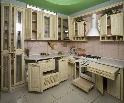 Interior kitchen with a stove