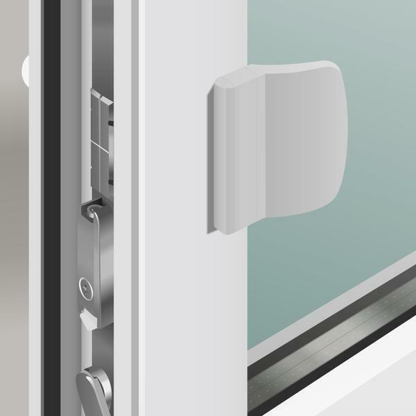 To familiarize with various variants of latches on a plastic balcony door it is possible in specialized shops
