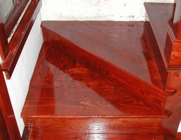 If the staircase is old and has damage, then it can be applied to several layers of paint