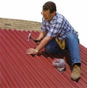 Repair of the roof of a private house