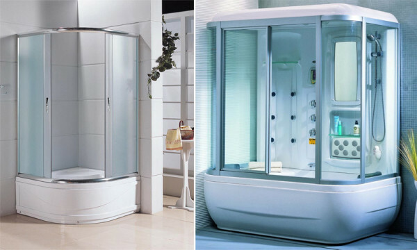 Showers with deep trays