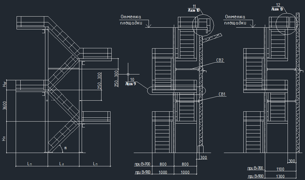 Before you start designing a ladder, you first need to correctly draw up its drawing