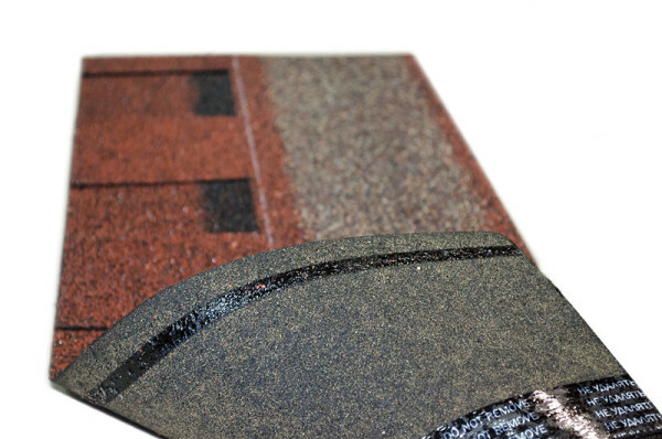 Qualitative adhesive strip on a flexible tile provides reliable fixation elements when laying the prepared substrate